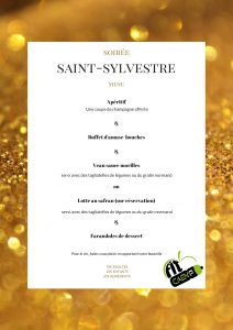 Saint Sylvestre fit caen'p menu